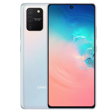 Samsung S10 lite 128GB Telefon yenidi bağlı qutuda 3 eded var ağ reng