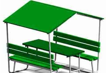 Беседка детская со скамьей и столом Размер: 1500*1200*1700 мм в Бишкек