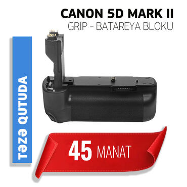 canon eos 5d mark ii в Азербайджан: Canon 5d Mark II üçün Grip Batareya bloku. Təzədir. Qutuda. Sənədləri