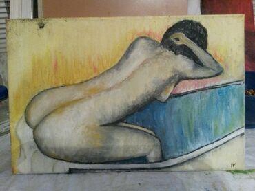 Slike   Sopot: Ulje na platnu. Bogat nanos boje. 30x20.Autorka Iv. Tel