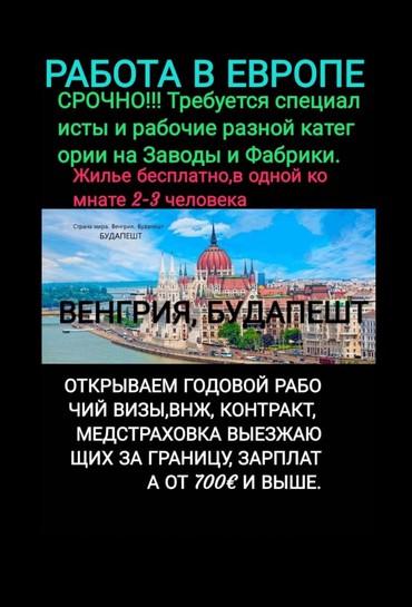 РАБОТА!!! ЕВРОПА!!! РАБОТА!!! ЕВРОПА!!!  в Бишкек