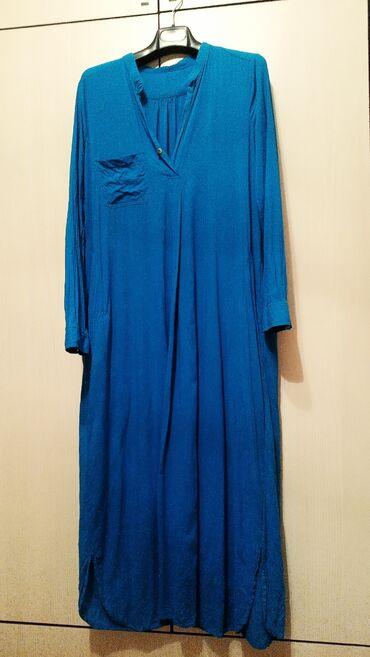 платья рубашки свободного кроя в Кыргызстан: Продаю платье рубашка.состояние отличное.размер46