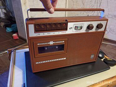 Кассетный магнитофон . Электроника 302. 1989 год. Полностью рабочий