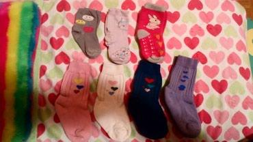 7 pari čarapa za devojčice od 2-3 godine, dvoje tanke,pet debelih... - Novi Sad
