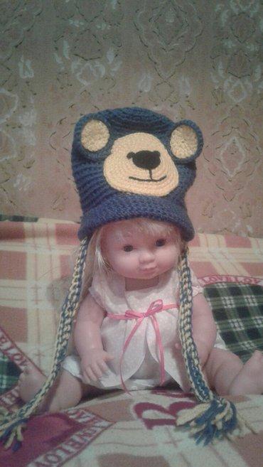 Bakı şəhərində Детская вязаная  шапочка на 6 месяцев