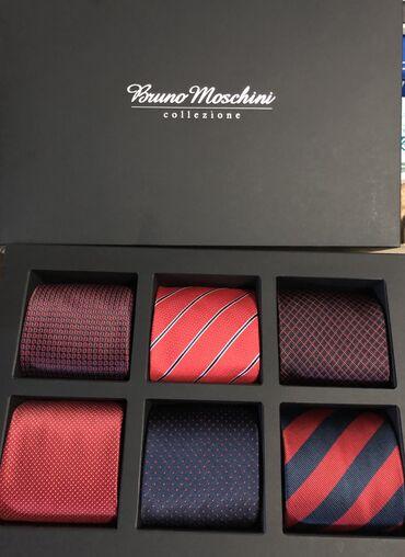 Bruno Mochini kravate - NOVO Set od sest kravata, crvena nijansa