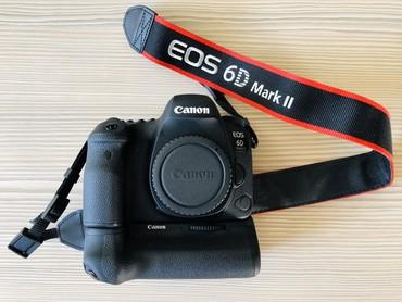 canon g7x mark 2 в Кыргызстан: Продаю Фотоаппарат Canon 6D Mark II Body (новый) + батарейный блок ор