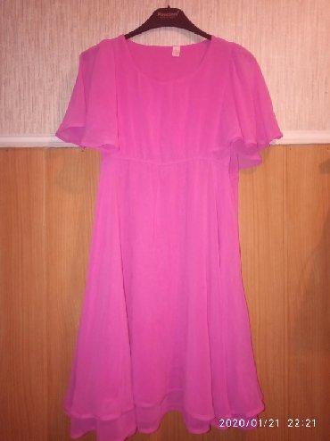 летнее платье с запахом в Кыргызстан: Платье летн из шифона 44-размера.Свободная модель.Можно беременным и