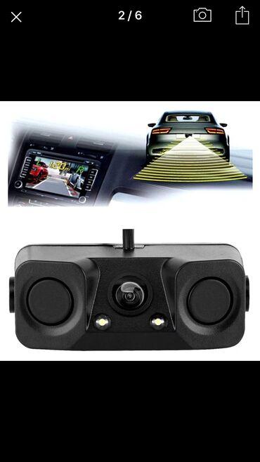 Auto oprema - Beograd: Nova (nekoriscena) Univerzalna HD Rikverc kamera sa integrisanim