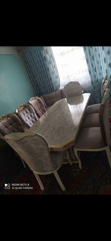 bileceri - Azərbaycan: Masa tumbali ve 8 stul ile birlikde satilir 1200azne alinib bir