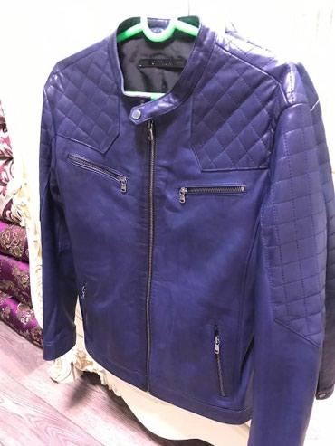 Кожаная куртка темно синего цвета, в Бишкек