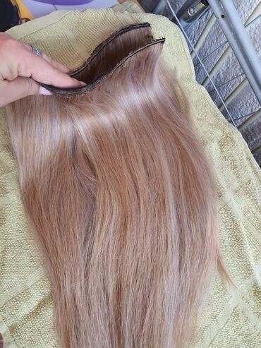 Kosa prirodna - Srbija: Kosa na tresi 114 grama Prirodna kosa Brazilska kvalitet 100% 50cm