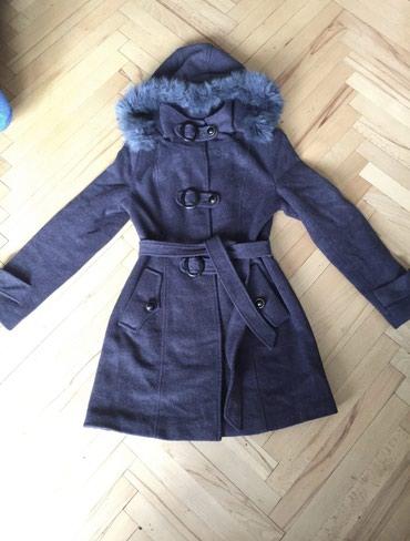 утепленное пальто в Кыргызстан: Пальто, утепленное, зимнее, размер S, мех натуральный, в отличном