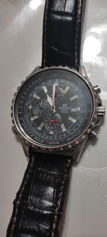 Личные вещи - Кадамжай: Часы Casio Edifice, диаметр 44мм, состояние отличное. Кадамжай, Кызыл