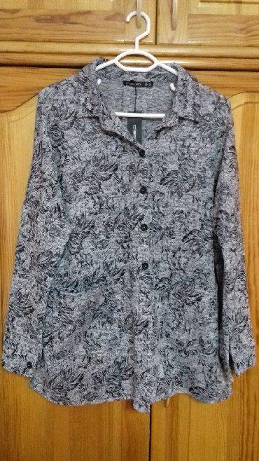 трикотажная рубашка в Кыргызстан: Рубашка-Блуза, трикотажная. Новая, размер 54-56. Турция. Состав