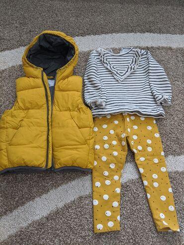 Жилетка утепленная, кофточка и штанишки с флисом от Zara на 2-3 года в