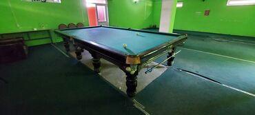 Спорт и хобби - Кара-Суу: Бильярдный стол Черный графитВ хорошем состоянии Вместе отдадим