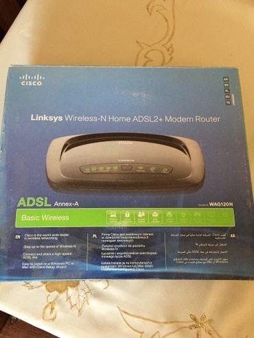 Xaçmaz şəhərində  Linksys WAG120N-EE Wireless-N Home ADSL2+ Modem Router