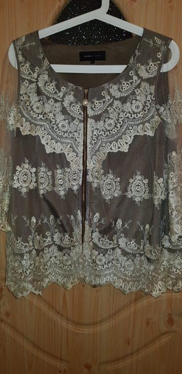 Блузка гипюр золотистый на красивом подкладе Италия. в Бишкек