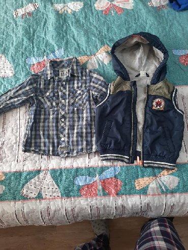 детская клетчатая рубашка в Кыргызстан: Детская жилетка + рубашка на 1,5-2 года