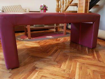 Klupe - Srbija: Set za kuću, klupa i tabure, prsktično, lako uklopivo, lako