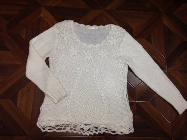 Продаю белую вязанную кофту в в Бишкек