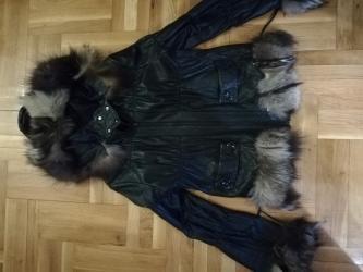 Italijanska-kozna-crna-jakna - Srbija: Italijanska kozna jakna,sa krznom placena 250 e