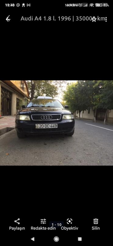 44 elan | NƏQLIYYAT: Audi A4 1.8 l. 1996 | 350000 km