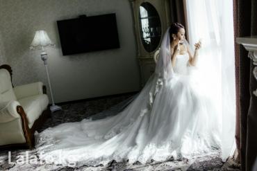 пышные свадебные платья со шлейфом в Кыргызстан: