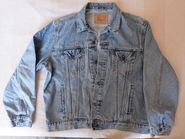 Farmericecine teksas - Srbija: Levis teksas jakna XL, odlična, retro, izbledeli model, teksas
