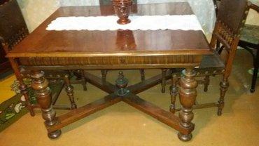 Stari stilski namestaj komplet trpezarija ,porodicna kolekcija staro p - Pancevo