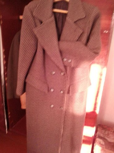 Женская одежда - Чон-Таш: Пальто женское, стильное,практически новое. Длинное,сзади шлица.Очень