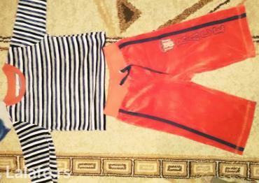 Decija plisana trenerka za bebe ,duksic u mornarskom stilu i crveni do - Backa Topola