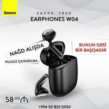 Baseus brendinden olan W04 Bluetooth qulaqcıqları