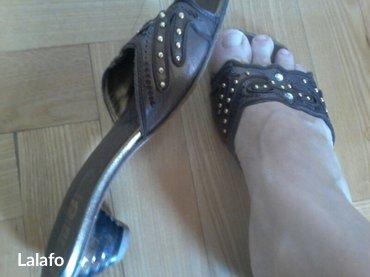 Kozne papuce tamno braon boje 37 vel kao nove italianske - Belgrade