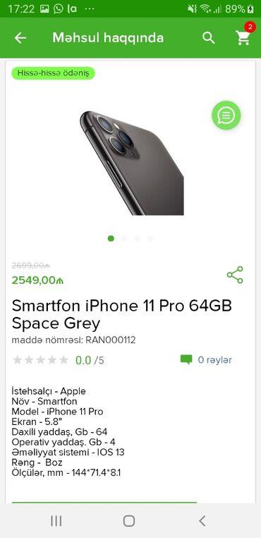 Mobil telefon və aksesuarlar - Azərbaycan: Yeni IPhone 11 Pro 64 GB