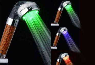 Ντουζ μπανιου με φίλτρο νερου κ φως που αλλάζει ανάλογα την
