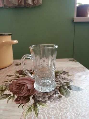 стеклянные стаканы в Кыргызстан: Стеклян кружка есть 2шт каждый по 25