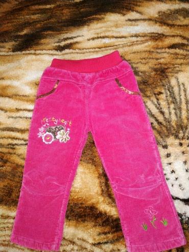 Вельветовые штанишки на девочку 1.5-2 года теплые в Novopokrovka