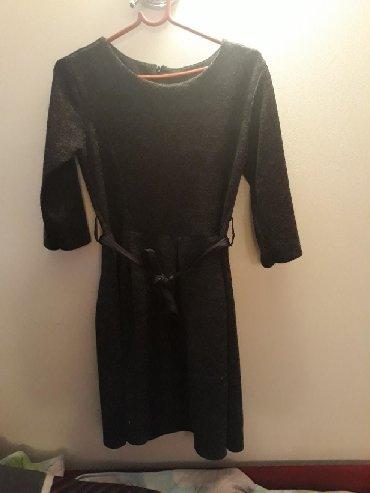 Crna sa masnom - Srbija: Haljina za zimu. topliji materijal. crno siva sa masnom koja se