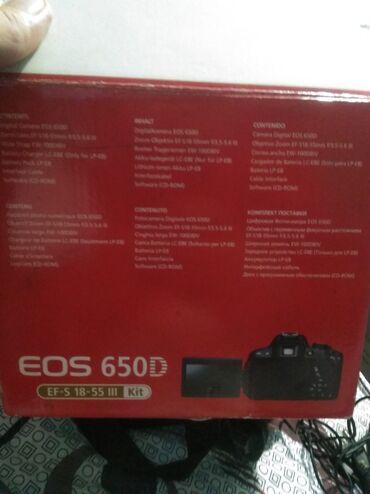 фотоаппарат canon eos 1100 d в Кыргызстан: Фотоаппарат Canon EOS650D состояния отлично