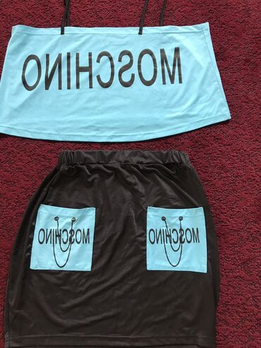 Топ и юбка мини, бренд moschino покупала 550 с продам 100 с