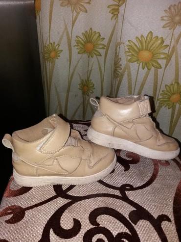белые ботинки в Кыргызстан: Ботинки кожаные. размер 26 по стельке 16см надевали 2раза