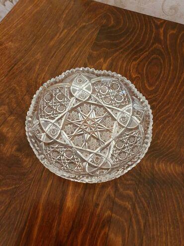 Хрустальное блюдо Богемия диаметр 15,5 см