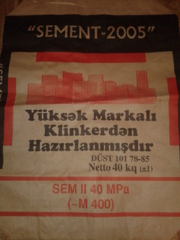dostavka tovarov в Азербайджан: 400 Marka 40 kq sement dostavka ile 6 manat. Fikiri ciddi olan wexsler