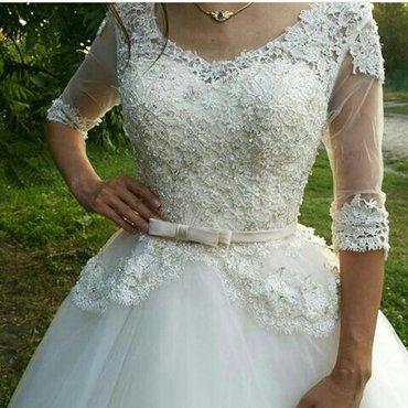 Шикарное свадебное платье на прокат в Бишкек