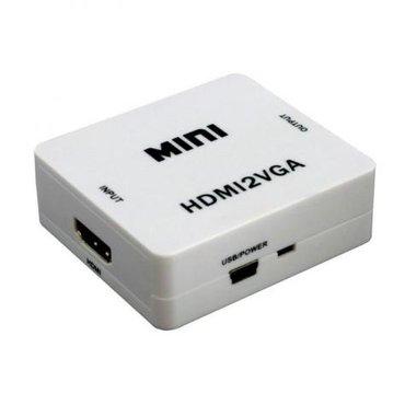 Hdmi на vga + аудио hd переходной кабель адаптера в Бишкек