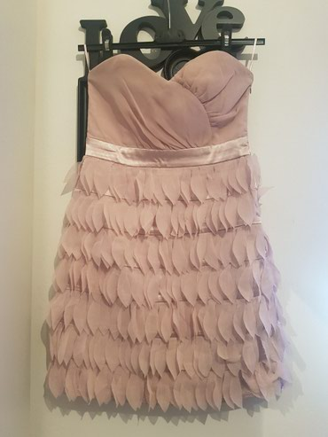 Preslatka kratka haljinica (puder roze) XS - Uzice