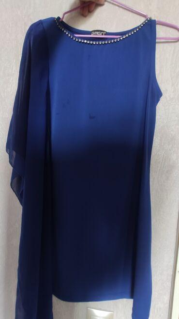 Платье-туника на одно плечо. цена 400. покупали дорого (вода на