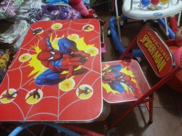 Xırdalan şəhərində Usaq masasi oturacaqla birge satilir  her ikisi yigilir